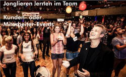 Learn to juggle in a team - customer or employee event