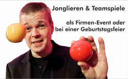 Learn to juggle & team games - as a company event or birthday party