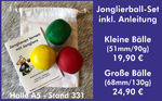 Juggling ball set including instructions in a cotton bag - € 19.90